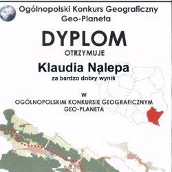 """Ogólnopolski Konkurs Geograficzny """"Geo-Planeta 2017/2018"""""""